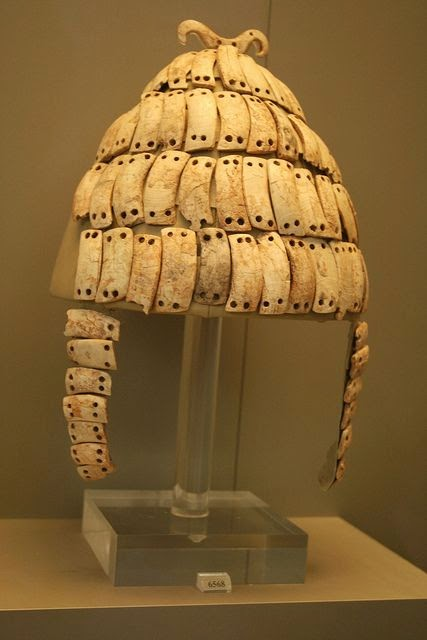 Mycenaean helmet at the National Archeological Museum in Athens