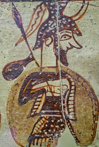 from the Warrior's Vase from Mycenae LH IIIC