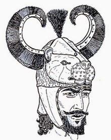 imagined animal form helmet by andrea salimbeti, using lion head from shaft grave iv in mycenae