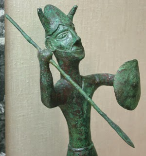 bronze statuette of warrior from the sanctuary of the Ingot God at Enkomi Cyprus 1200 bce