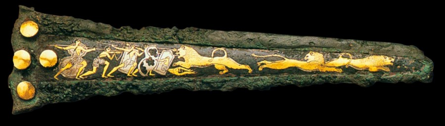 Mycenaean dagger, 1500s bce