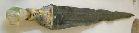 type A sword from Mallia ca 1700 bce with rock crystal pommel and gold hilt