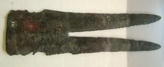 bronze double headed spear ca 1500s bce from Agios Onoufrios near Phaistos