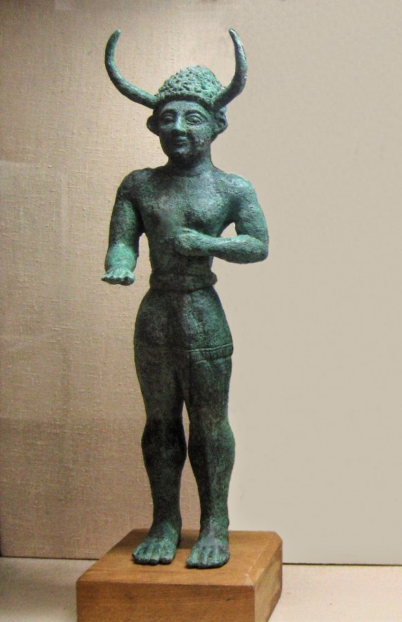 The bronze 'Horned God' from Enkomi, Cyprus