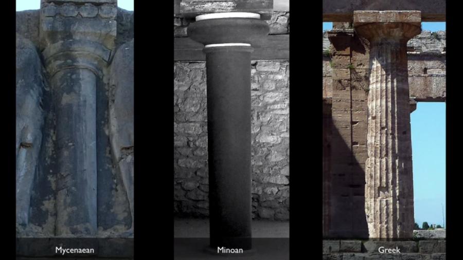 Mycenaean, Minoan, and later Greek columns