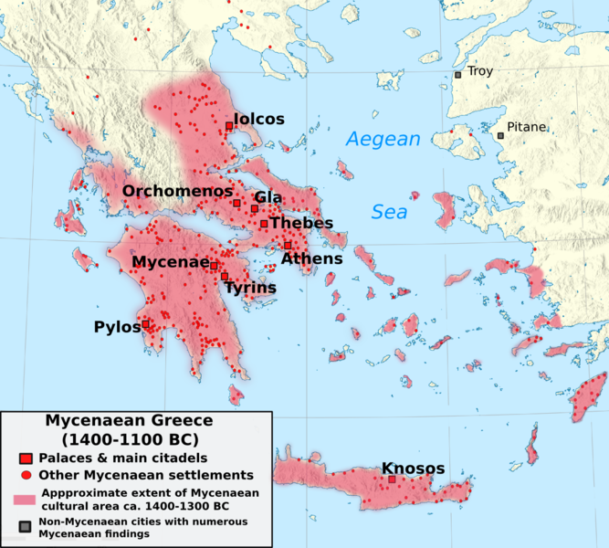 1100-1400, Mycenaean culture