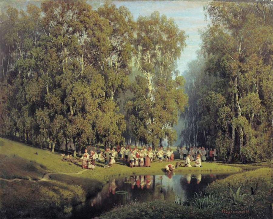 Троицын день. Пётр Александрович Суходольский. 1884 г.