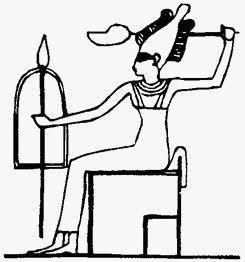 Богиня Анат с копьём, щитом и боевой секирой