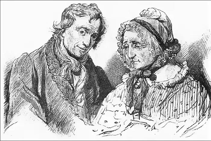 Пульхерия Ивановна и Афанасий Иванович