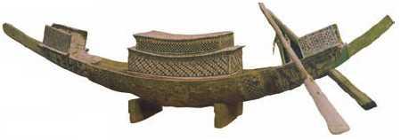Модель погребальной ладьи из гробницы Тутанхамона. Дерево. 14 в. до н. э