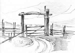 ворота околицы
