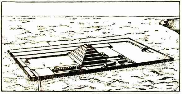 Древнейшая в Египте пирамида Джосера (археологическая реконструкция)