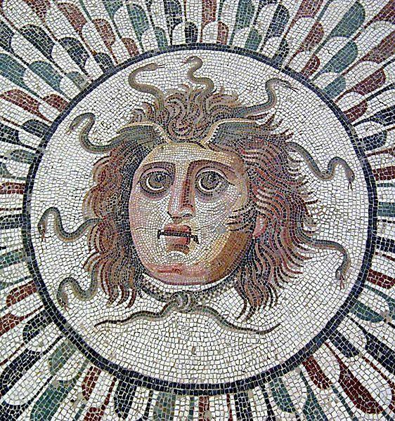 Roman Mosaic. Medusa. Sousse, Tunisia.