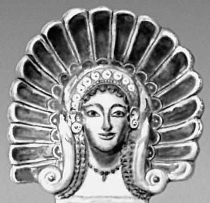 Антефикс из Вей. Ок. 500 до н. э. Музей виллы Джулия, Рим. Терракота.