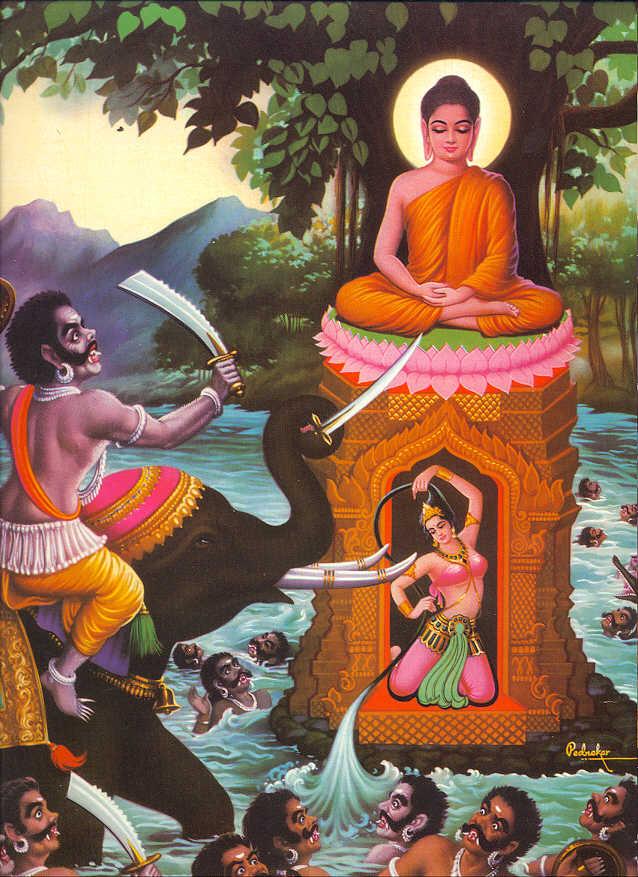 Будда и Мара