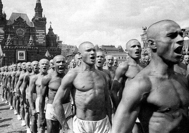 Парад физкультурников в Москве