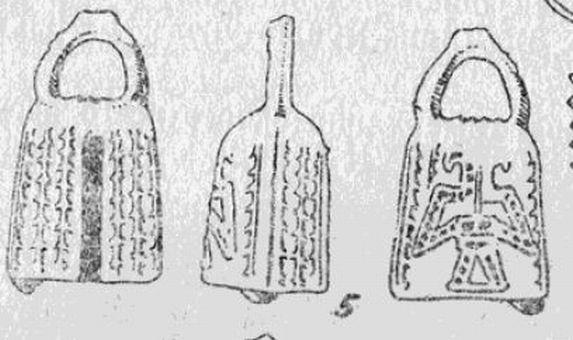 двуглавый орёл из конного погребения № 8 Красномаяцкого могильника