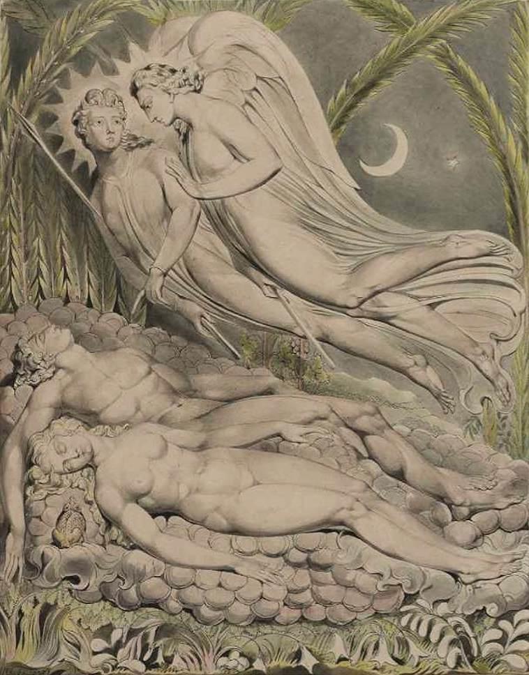 Уильям Блейк. Спящие Адам и Ева