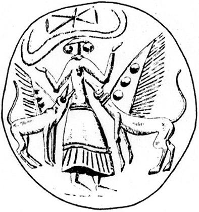 Камея из оникса из Кноссоса с богиней-пчелой