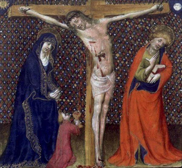Иосиф Аримафейский, собирающий в Чашу кровь Христа.