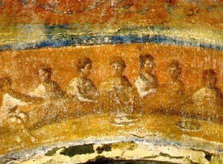 Агапа. Фреска из катакомб св. Присциллы.