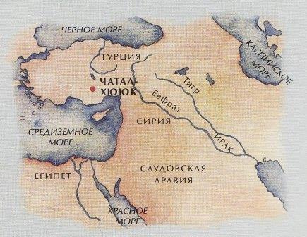 Чатал-Хуюк карта