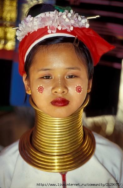 девушка племени падаунг