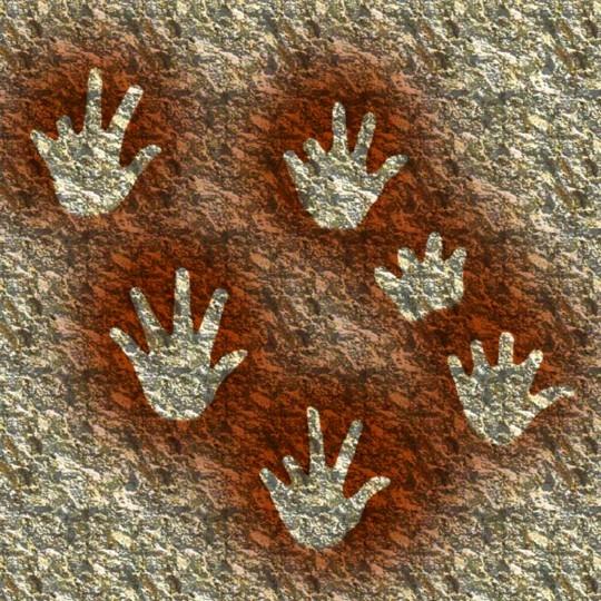Отпечатки рук без пальцев