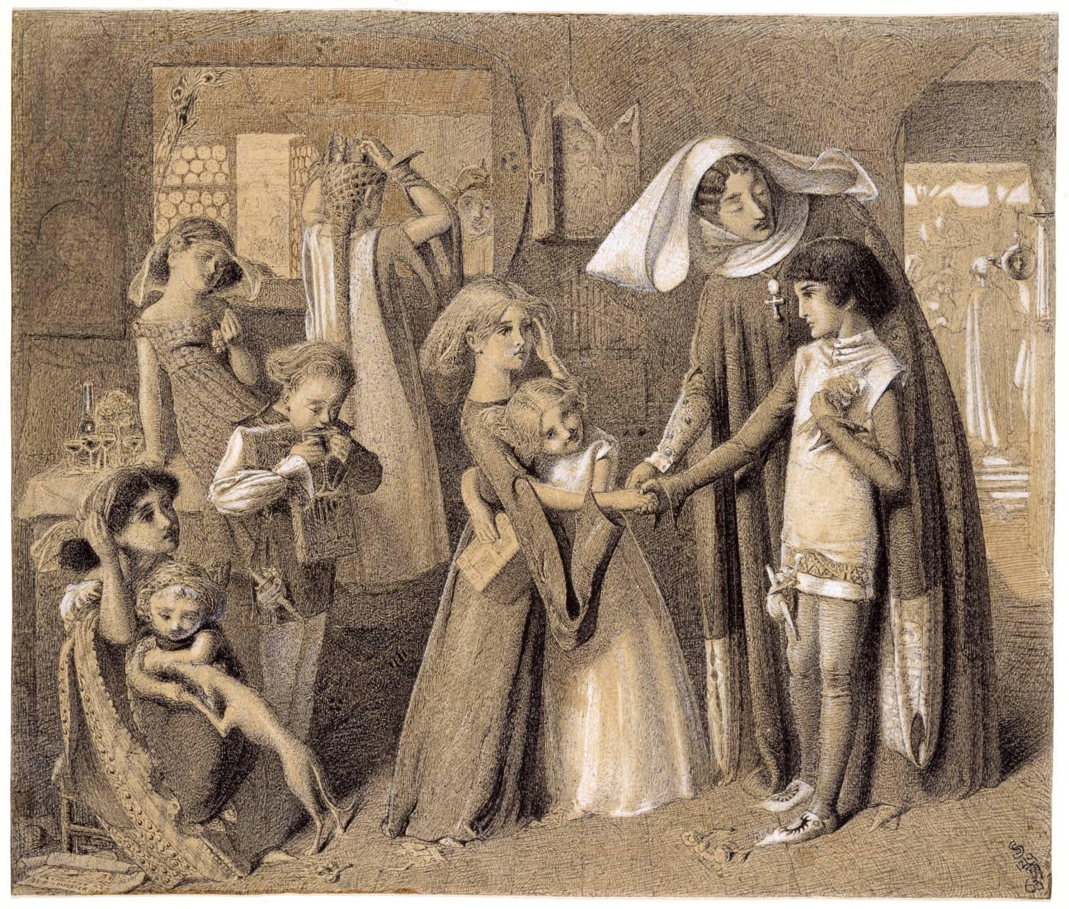 Первая встреча Данте и Беатриче.