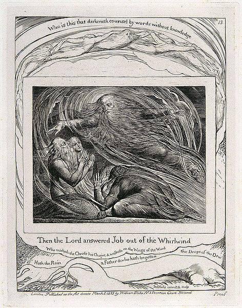 Уильям Блейк. Иллюстрация к Книге Иова