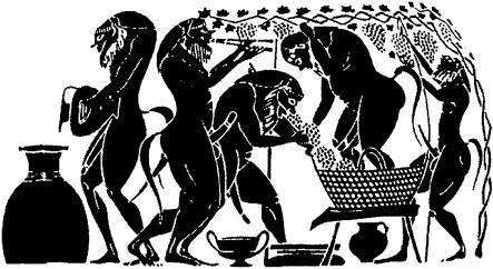 Сатиры из свиты Диониса
