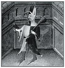 Французский придворный шут в традиционном костюме дурака