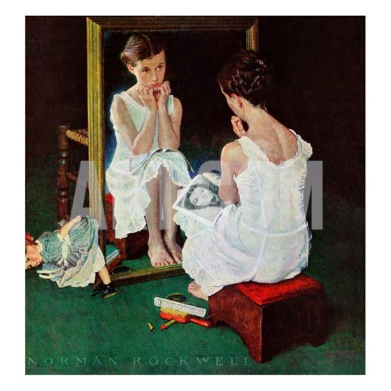 Девочка у зеркала.