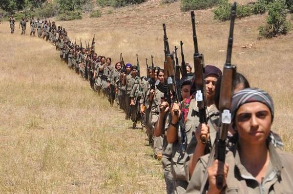 женское подразделение Отряда народной самообороны (YPG).