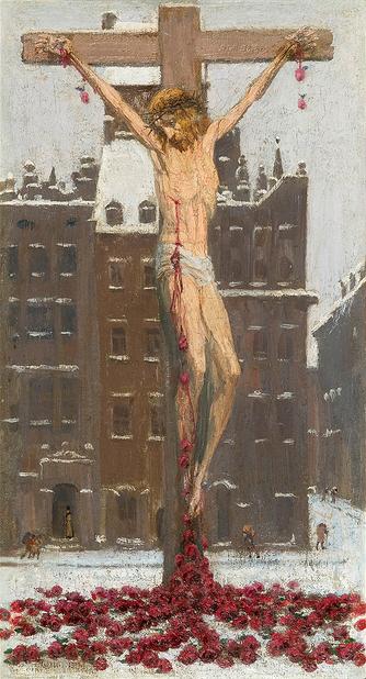 Edward_Okuń_-_Chrystus_śnieżny_1929