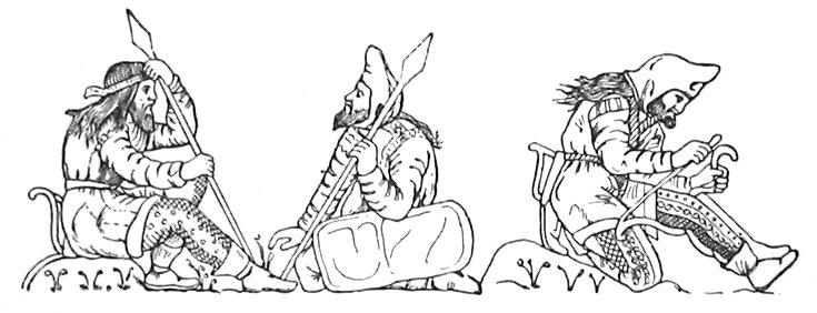 Скифские воины. Рельеф чаши из кургана Куль-Оба (Эрмитаж)