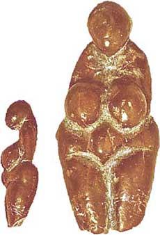 Venere di Mentone Figurina di 4,7 cm, di epoca Gravettiana, 25.000 a.C. circa.