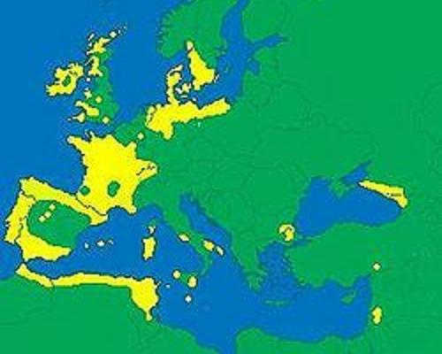 Распространение мегалитов в Европе и на прилегающих территориях.