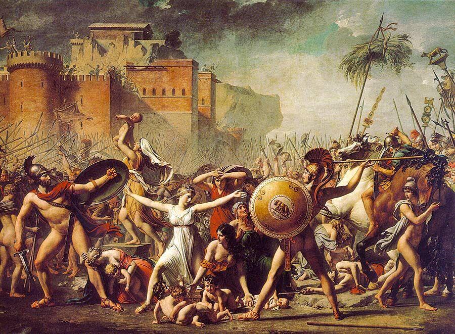 Давид. Сабинянки. 1799. Лувр