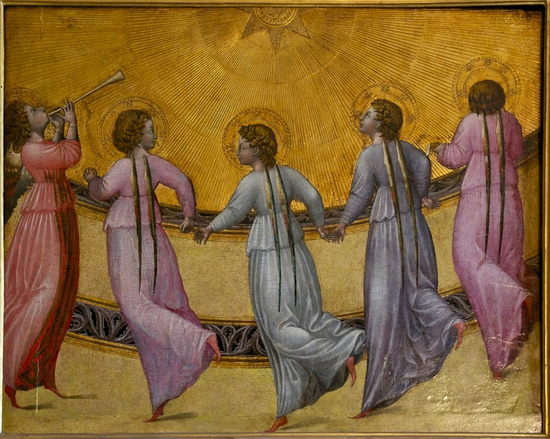 Джованни ди Паоло. Ангелы танцуют вокруг солнца