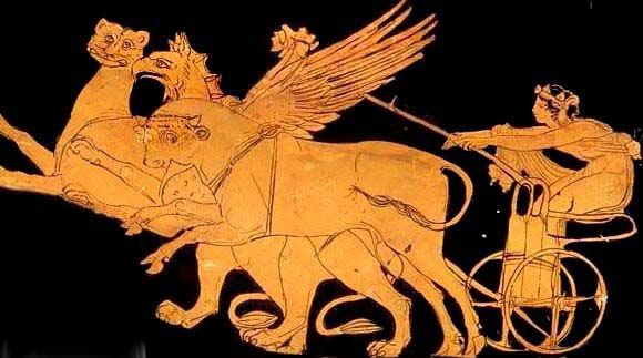 Дионис на колеснице