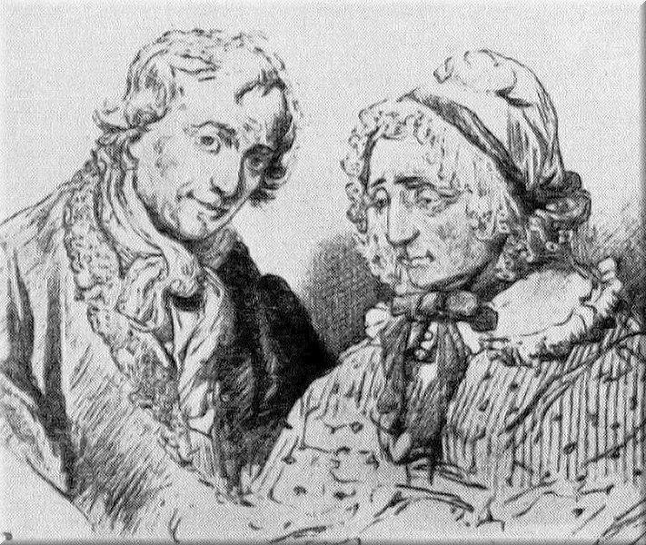 Афанасий Иванович Товстогуб и жена его Пульхерия Ивановна