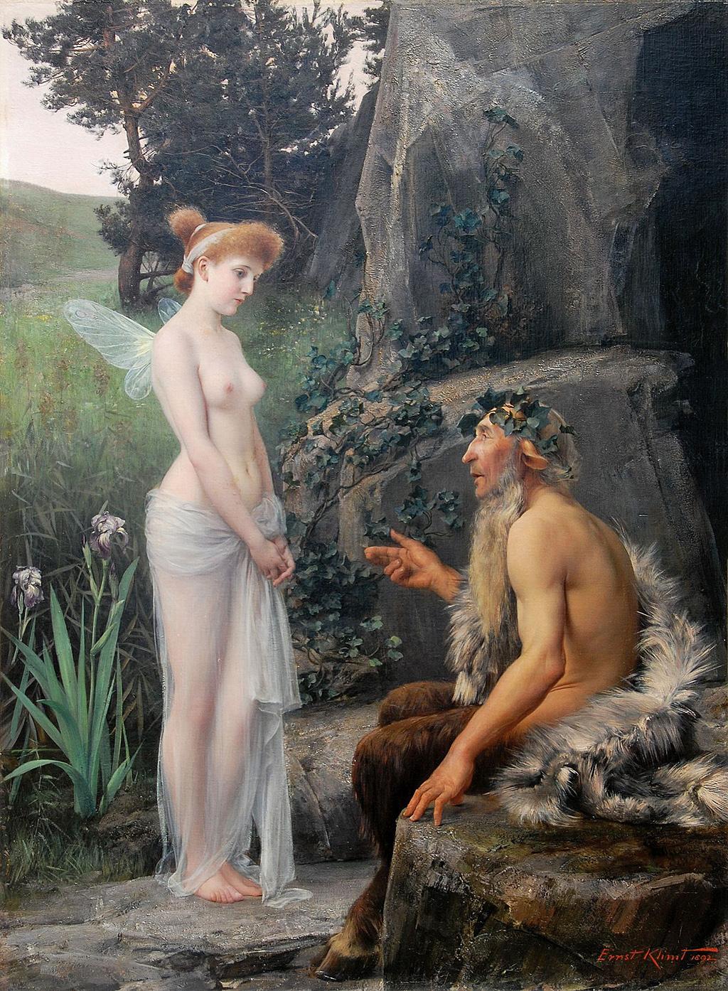Ernst_Klimt_-_Pan_tröstet_Psyche,_1892