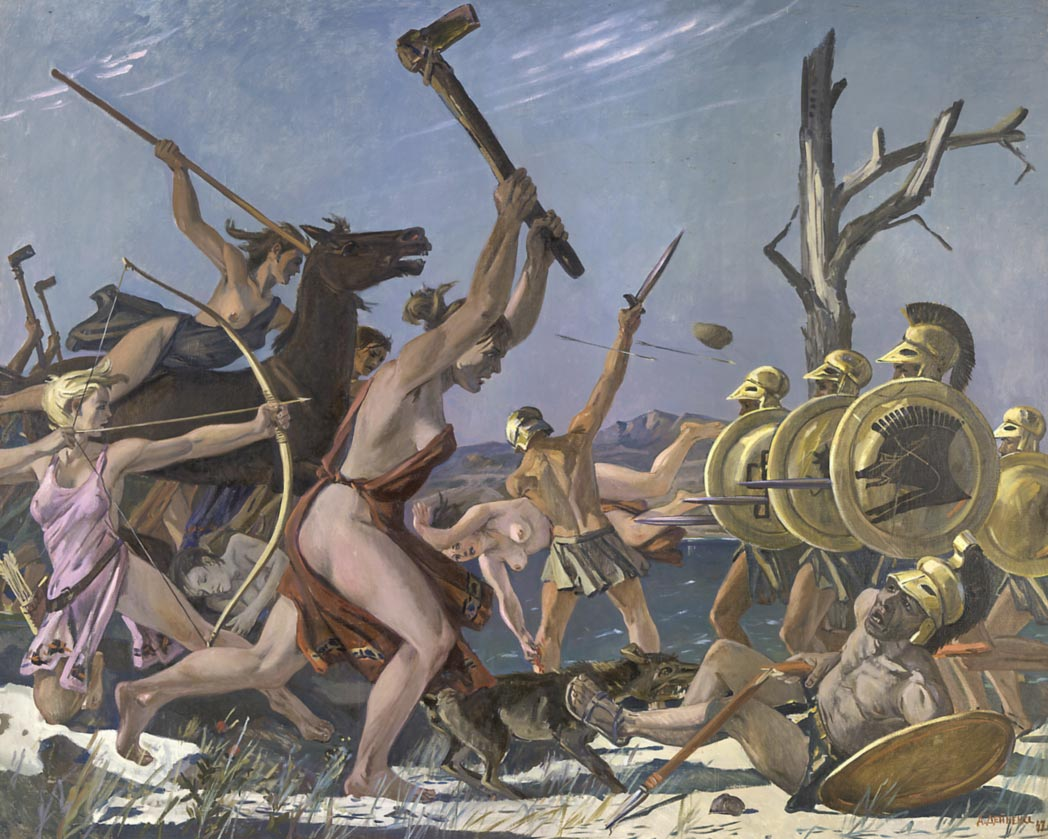 Александр Дейнека. Бой амазонок, 1947, ГТГ