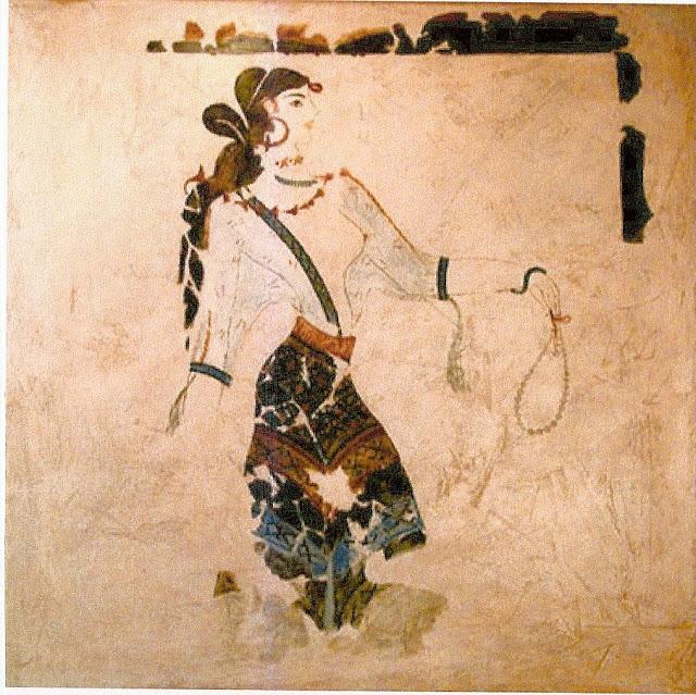 Фреска Акротири. Фреска из дворца в Кноссе.