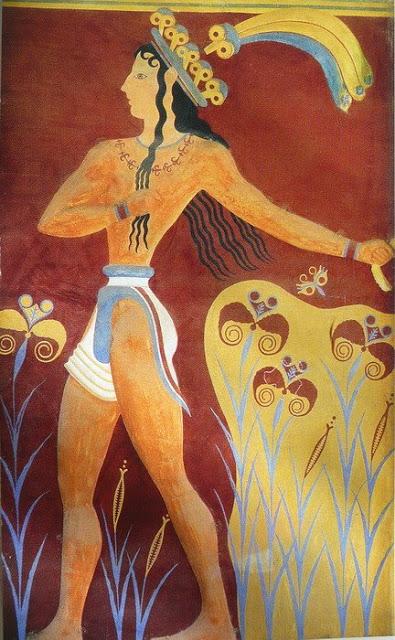 Фреска Акротири. Фреска из дворца в Кноссе 2.