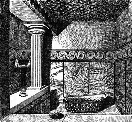 Ванная комната в кносском дворце.