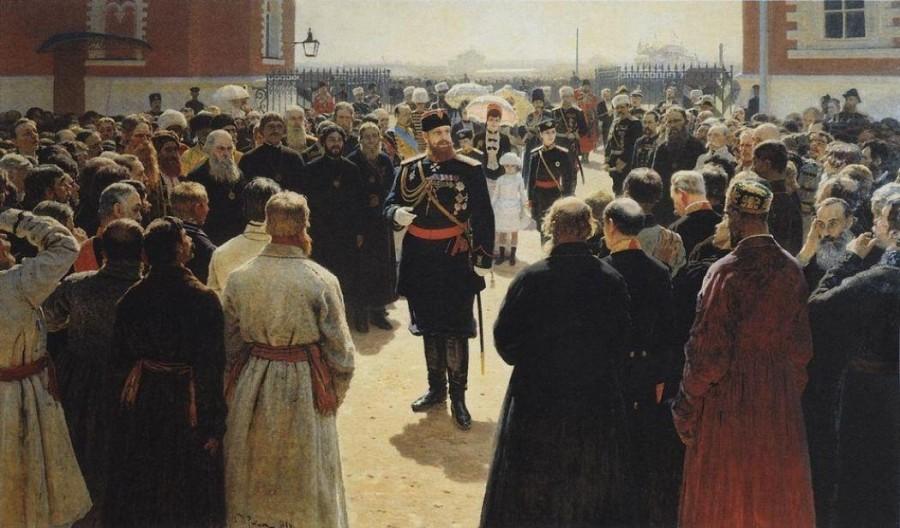 Александр III с волостными старшинами