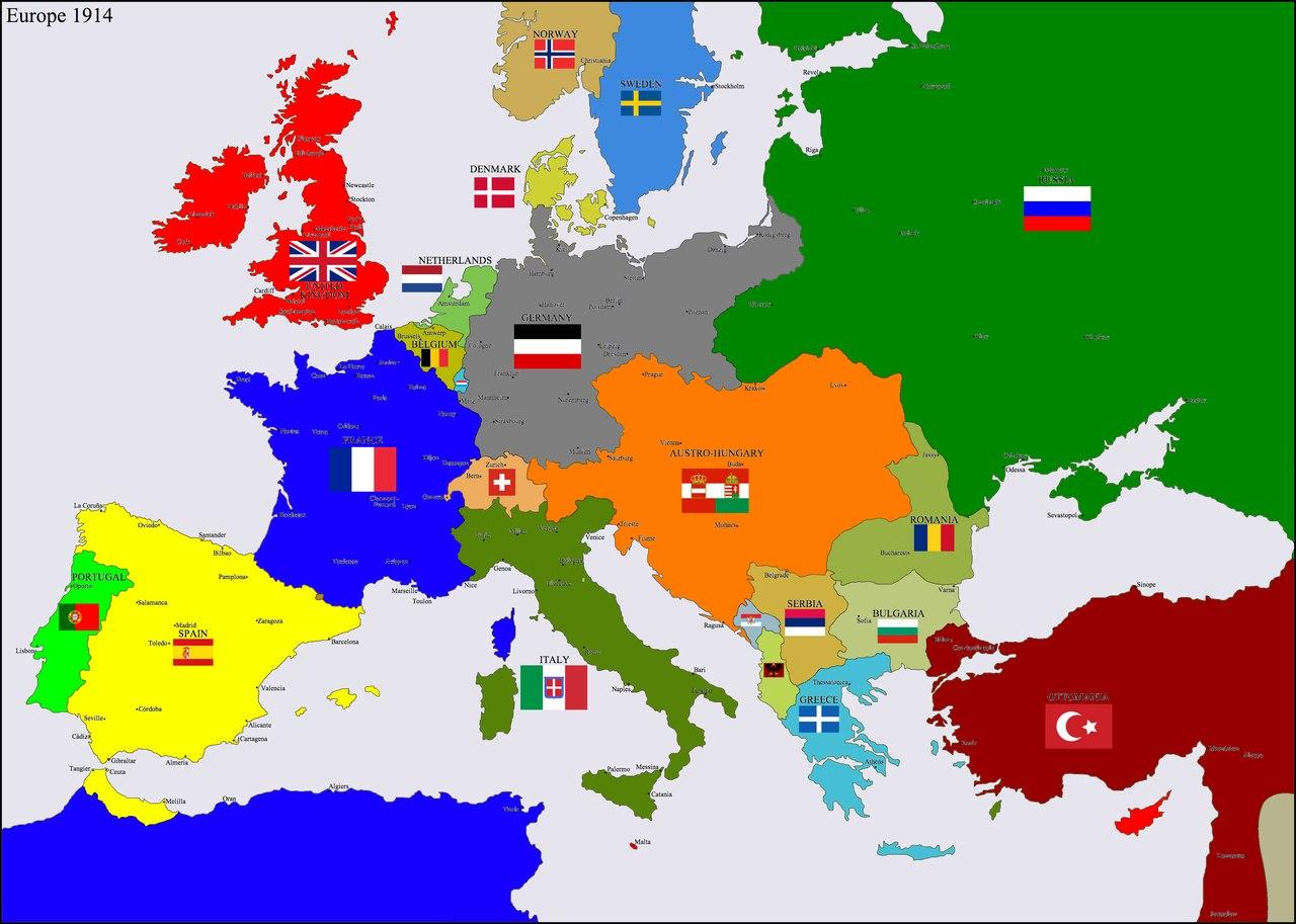 Европа 1914