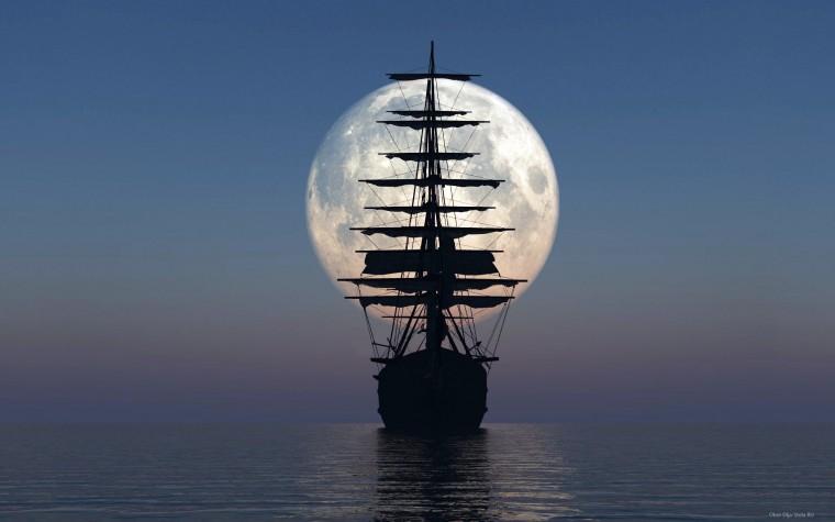Луна-и-корабль